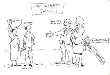 Negotiating and trust creation